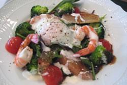 海老とグレープフルーツとブロッコリの前菜